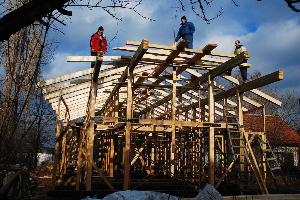 wood house construction, single family house