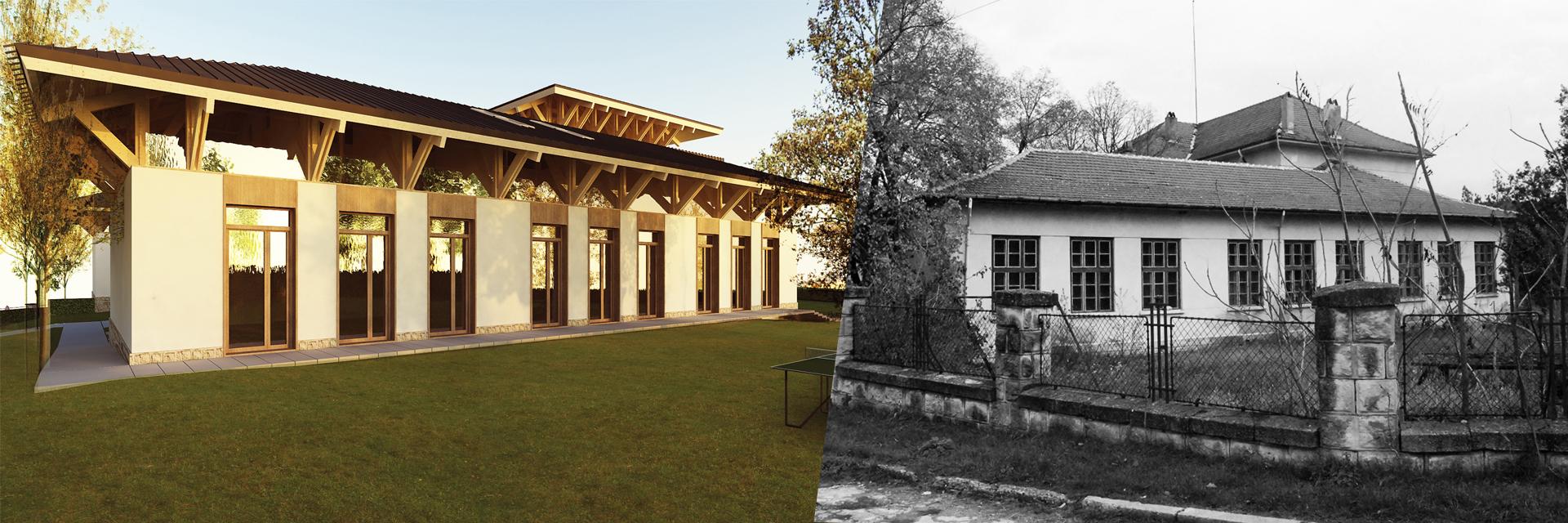 pisanets building, academy architecture, architecture reconstruction
