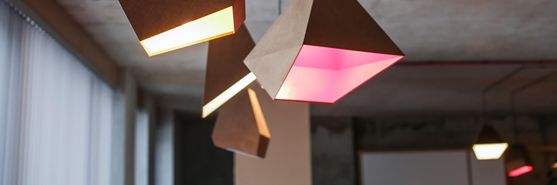 pyramid lamps, lighting design, lamps,