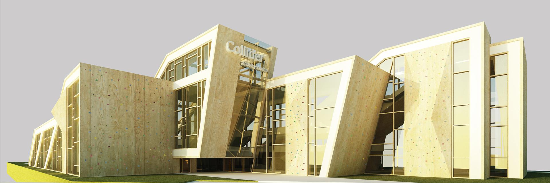 collider, sport center design, architecture, building